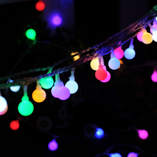 hot deal buy globe string lights 100 leds colored fairy lights 8 lighting mode waterproof plug in string lights for wedding party decoration