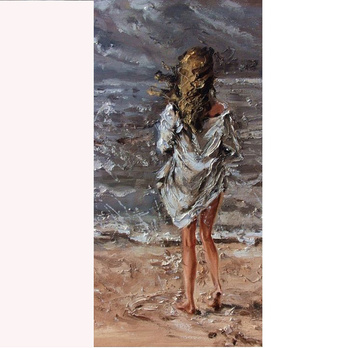 Real Painted New Style Sexy Cloth Women Image Handmade Artistic Wholesale Diy Oil Painting Paint Art