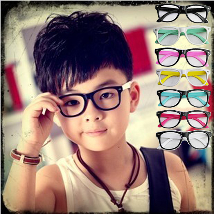 29f5f4aeb549 hot sale 2015 fashion kids boys girls rivet glasses rivet square box  patchwork children s glasses frames eyeglasses
