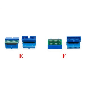 Image 5 - YuXi 2pcs/lot USB 3.0 20pin 19pin male connector 90 /180 degree motherboard chassisplugged plate IDC 20 pin connector socket