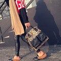 2017Women's Moda Leopardo Bolsa Sacola Saco das senhoras Ombro sacos do mensageiro sacos de grande capacidade feminina a principal bolsa feminina