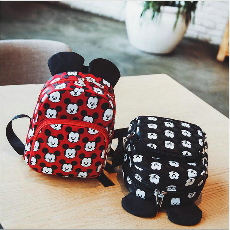 2018 Hot Fashion Mickey Shape Kindergarten Backpack Kids Bag Nylon Small School Bags For Girls Boys Aged 3-6 Preschool Bags