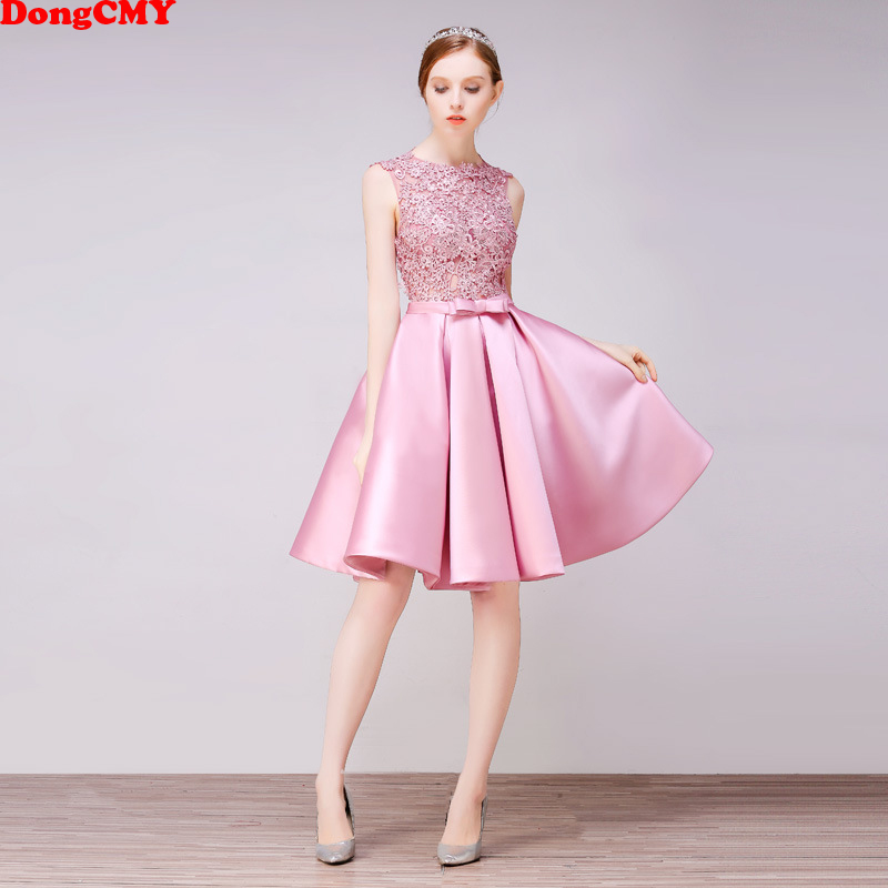 DongCMY courte nouveauté robes de Cocktail fête grande taille femmes robe en dentelle