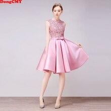 DongCMY kısa yeni varış kokteyl elbiseleri parti artı boyutu kadın dantel elbise