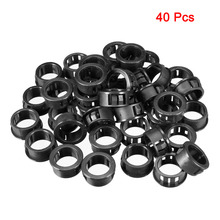 Uxcell 40pcs Black 20mm Mounting Dia. Universal Cable Hose Snap Bushing Grommet Protector Locking Insulation Guard Collar