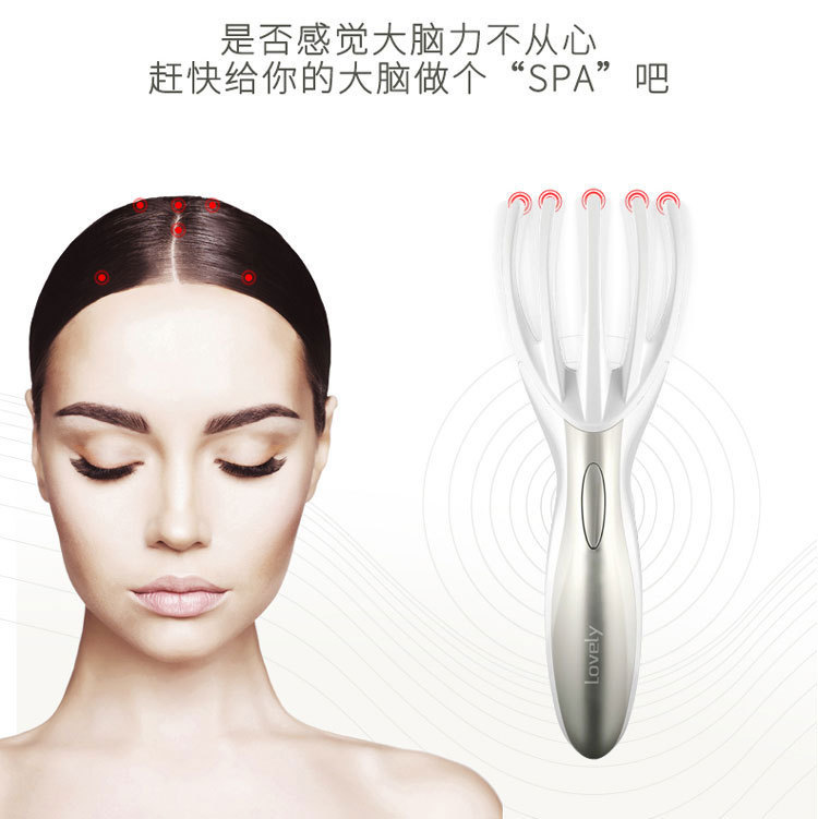 Motor driven Portable Shock Comb White Collar Office Workers Massage Head Scalp