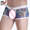Camouflage Boxer 2016 WJ Fashion Mesh Camouflage Man Sexy Penis Pouch Transparent Underpants Calzoncillos Hombre