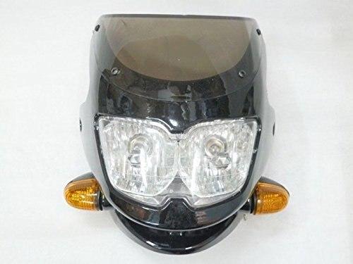 Motorcycle Black Streetfighter Nake Bike headlight Cafe Racer Custom Dual Light For Suzuki Honda Yamaha Kawasaki