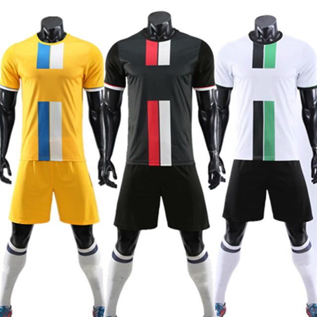 ZMSM Kids Adult Soccer Jersey Set Survetement Football Kit Men Child Football Training Uniform Vertical Stripes Tracksuit DN8103