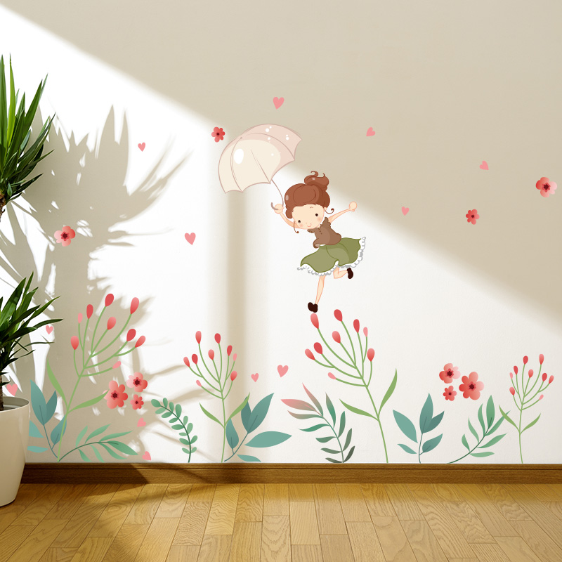 Baby girl room decor wall sticker for kids rooms h...