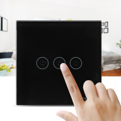 ФОТО Touch Remote Wall Switch 3 Gang Smart Control On-off Home Supplies with free shipping