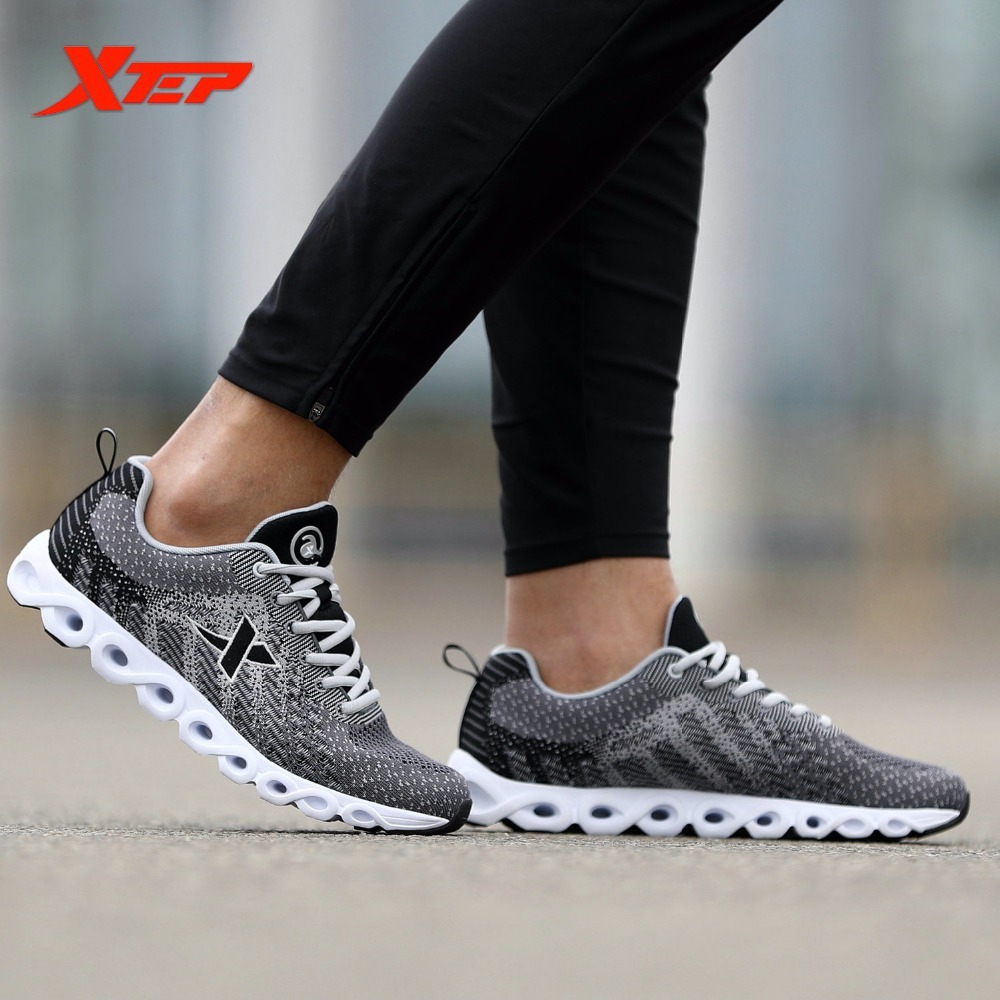XTEP Original Brand Men's Professional Running Shock Absorption Sports Trainers Shoes AIR Mesh Breathable Sneakers Comfortable