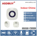 ASDIBUY Wifi doorcam wireless indoor chime optional with 52 ring tone battery power type