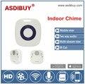 Asdibuy wi fi doorcam sem fio indoor chime opcional com 52 toque bateria tipo de alimentação