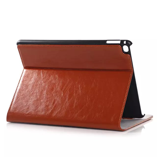 Luxury Crazy Horse Folio Stand Real Leather Magnet Smart Sleep Cover Card Holder Case For Apple iPad Air 2 6 9.7 inch Tablet crazy horse leather billfolds wallet card holder leather card case for men 8056r 1