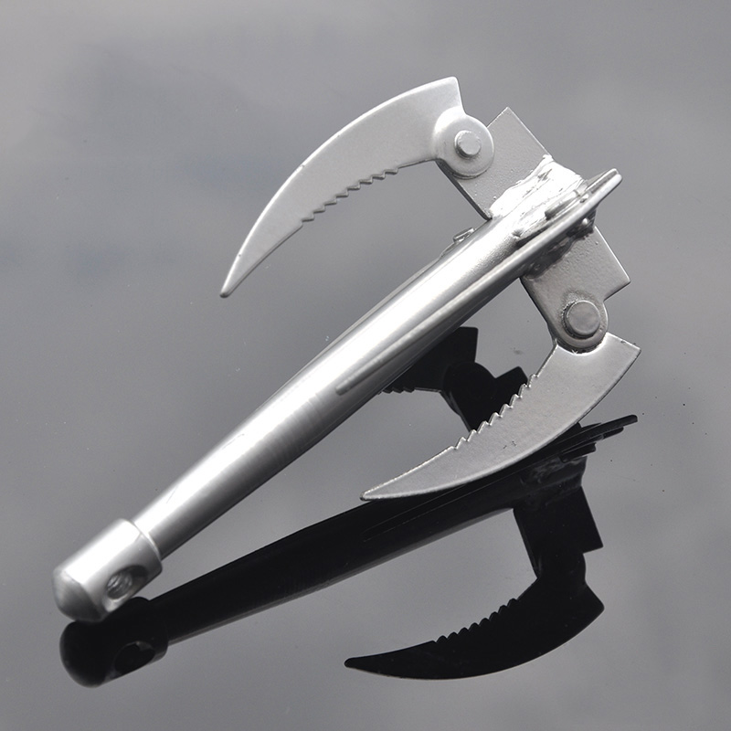 Anchor Aquatic Plants Knife Fishing Gear Stainless Steel Folding Knife Mowing Sickle Weeding Knife Fishing Play Nest Supplies 65 cm harvest scythe machete knife farm tools folder steel machete knife mowing five knifed tree