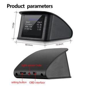 Image 3 - OBD2 HUD T600 Head up display per auto GPS Per Auto Velocità Del Proiettore Tachimetro Consumo Combustibile Temperatura P10 Sistema di Allarme di Velocità Eccessiva