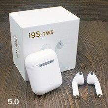 Новый TWS 5,0 беспроводной Bluetooth наушники i9s для смартфонов стерео двойной вызов мини движения с Padaer Mini x2