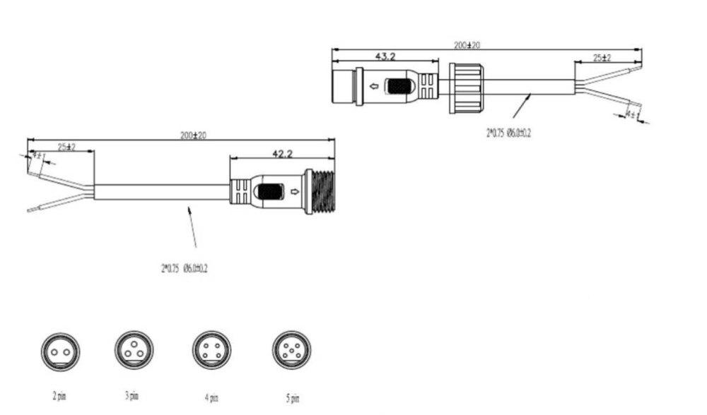 10 Paar M12 Wasserdicht 2 3 4 5 Pin IP65 Kabel Draht Stecker für LED ...