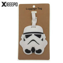 Cartoon Star Wars Luggage Tag Travel Accessories Silica Gel Suitcase ID Address Holder Baggage Boarding Tag Portable Women Label(China)