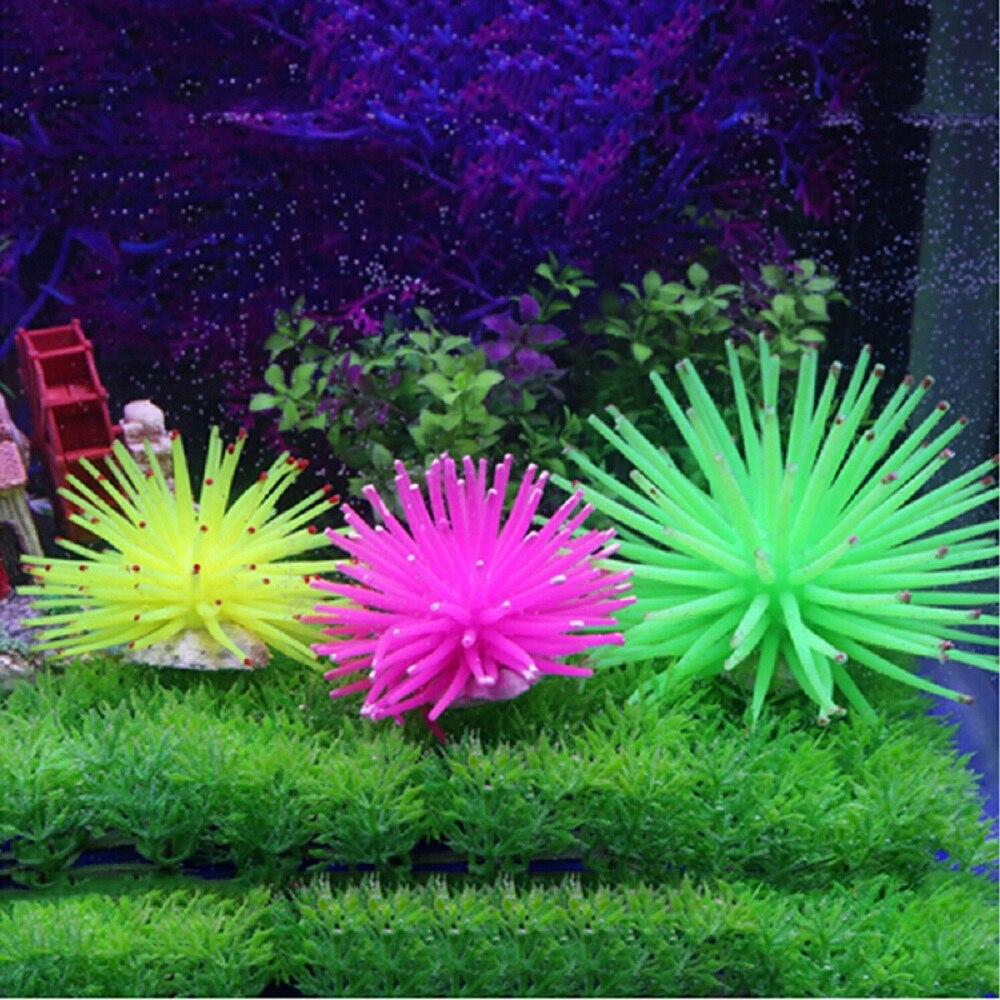 Artificial aquarium fish tank - Aquarium Silicone Artificial Simulation Fake Coral Plant Fish Tank Underwater Aquarios Decoration Ornament Accessories Landscape