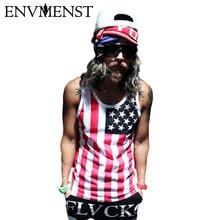 Vest Tank-Tops Shark Stripped Street-Wear Printed Cotton Sleeveless Envmenst-Newest Hip-Hop