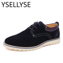 Luxury Branded Design Genuine Suede Leather Men Casual  Shoes New Fashion Flat Breathable British Style Oxford Shoes Plus Size47