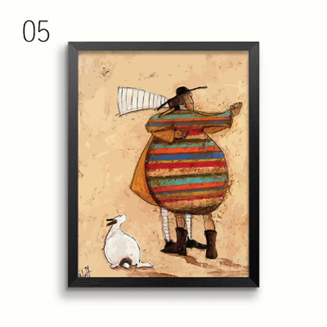 HTB1bF0fcO6guuRkSnb4q6zu4XXaO Gohipang Happy Family Abstract Love Canvas Painting Vintage Posters Prints Scandinavian Nordic Wall Art Picture For Bedroom Home