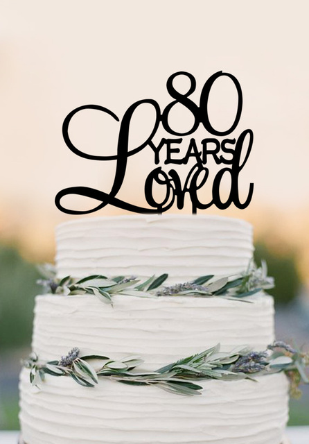 80 Years Loved Cake Topper80th Birthday Party Decorations 80th Anniversary Topper