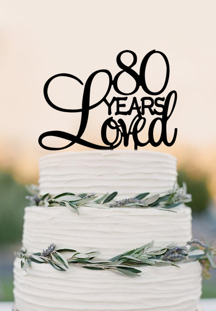 Online Shop 80 Years Loved Cake Topper80th Birthday Party