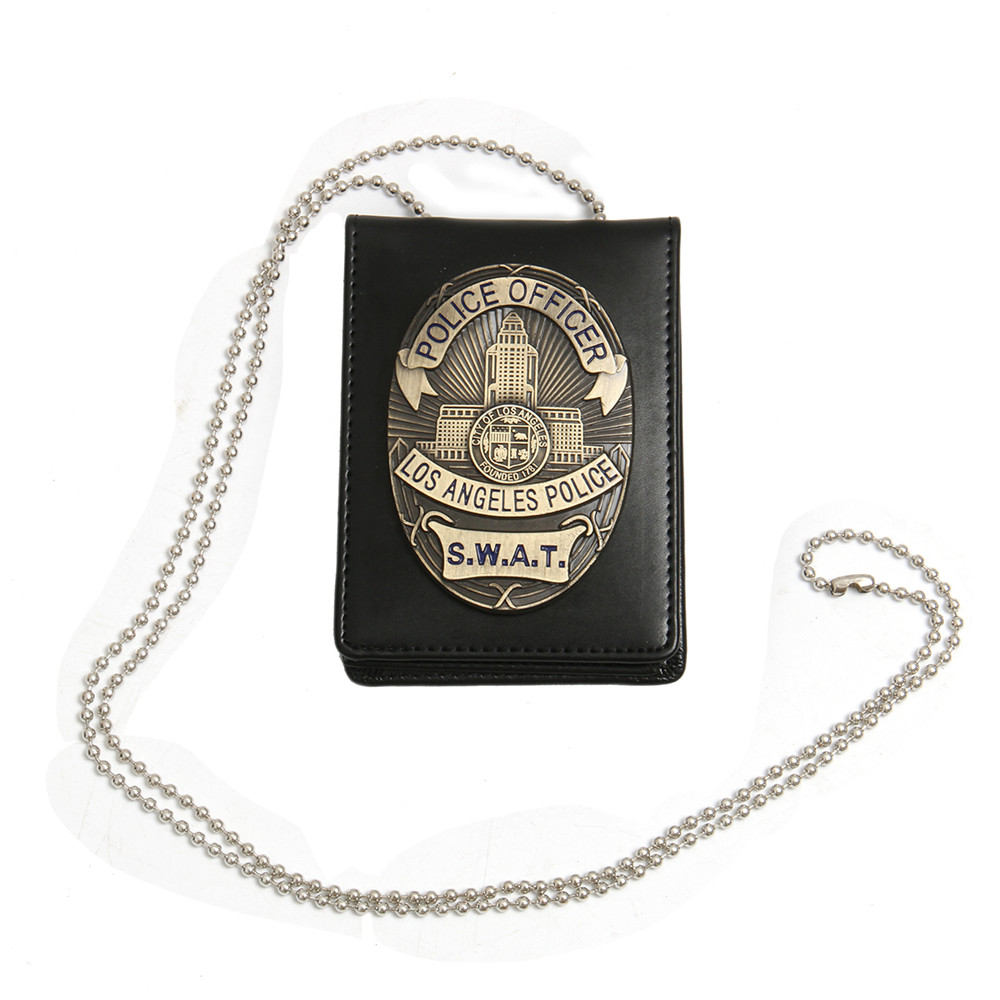 1pcs LA Police SWAT Officer Badges Card ID Cards Holder 1:1 Gift Cosplay Collection On Sale