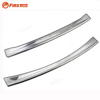 For Ford Fiesta Rear Bumper Protector Car Rearguards 3M Stickers Trunk Guard Sill Plate Scuff Trim Cover Stainless Steel
