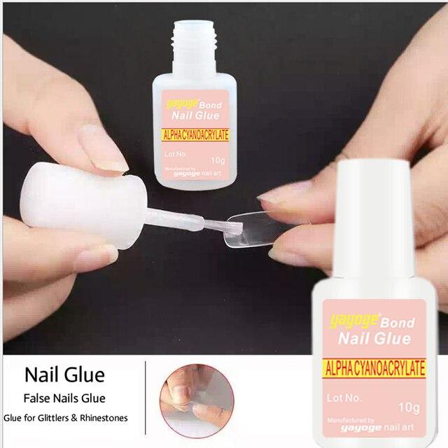 Nail glue false nail bonder rhinestone bond alpha cyanoacrylate nail glue false nail bonder rhinestone bond alpha cyanoacrylate 10g nail art with brush false tip prinsesfo Choice Image