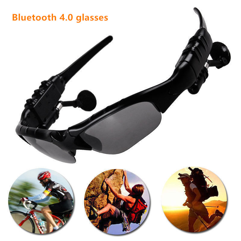 Bluetooth glasses Headphones Wireless Bluetooth 4.0 Headset Telephone Driving Stereo Sunglasses mp3 Eyes Glasses for iPhone wireless headphones sunglasses stereo music sun glasses headset handsfree earphone for outside