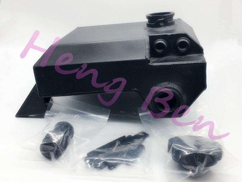 Réservoir d'expansion de débordement de radiateur en alliage d'aluminium HB 2.5L BA BF FALCON noir XR6 XR8 - 5