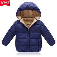 IYEAL Kids Winter Jackets 2017 New Solid Hooded Baby Girls Boys Cotton Thincken Coats Infant Outerwear Warm Clothes 1-4 Years