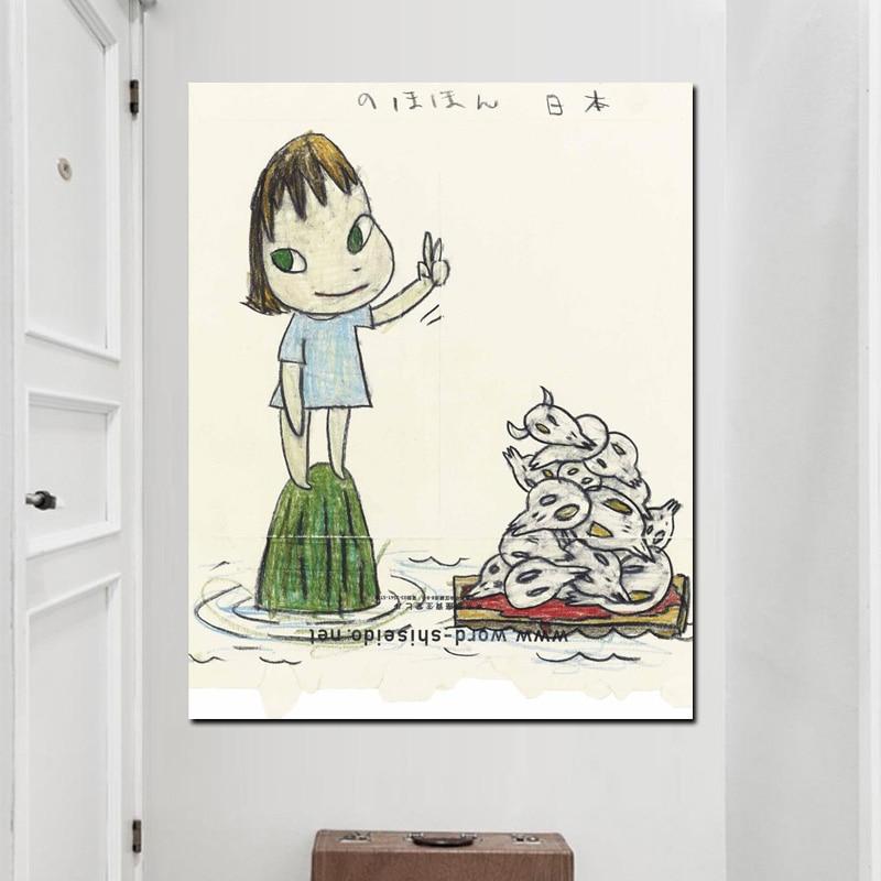 Leinwandbilder Yoshitomo Nara HD Druck Comics Schlafwandeln Puppe ...