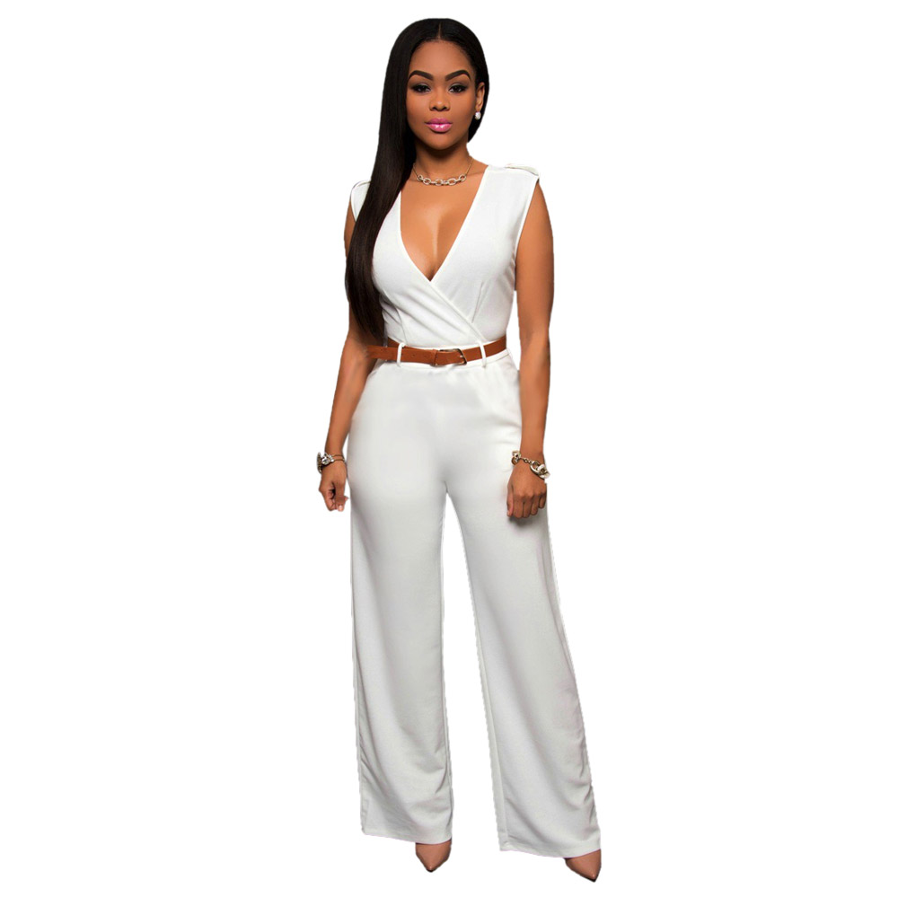 11 color elegant sexy jumpsuits ladies loose slim casual party overalls long pants women. Black Bedroom Furniture Sets. Home Design Ideas