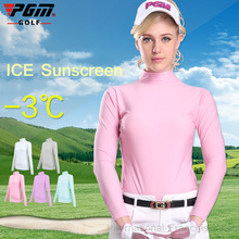 PGM Lady Sungreen Golf TShirt Compression Women Long Sleeve Polo Shirt Quick Dry Golf Ropa De Golf Mujeres Summer Shirt Clothes