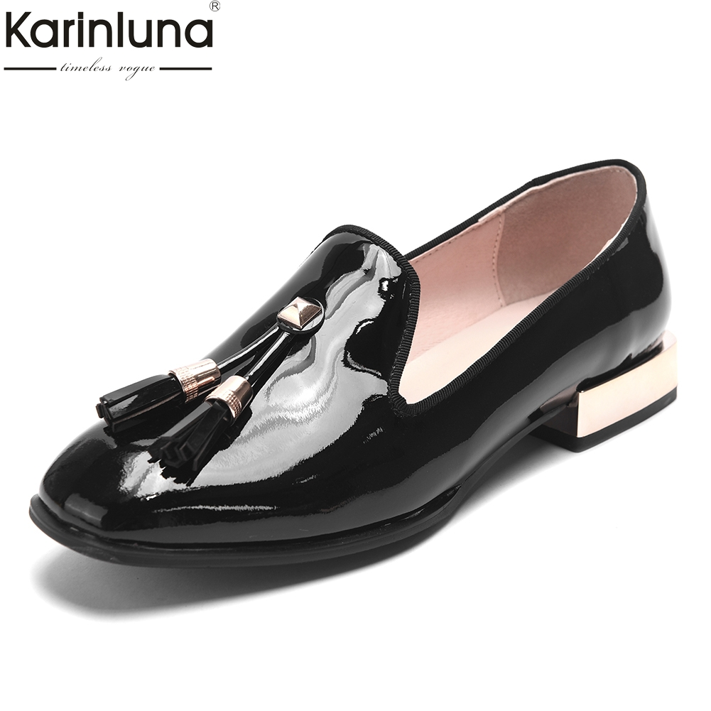 comfortable patent leather fringe summer shoes woman pumps female chunky heels casual slip on black pumps woman shoescomfortable patent leather fringe summer shoes woman pumps female chunky heels casual slip on black pumps woman shoes