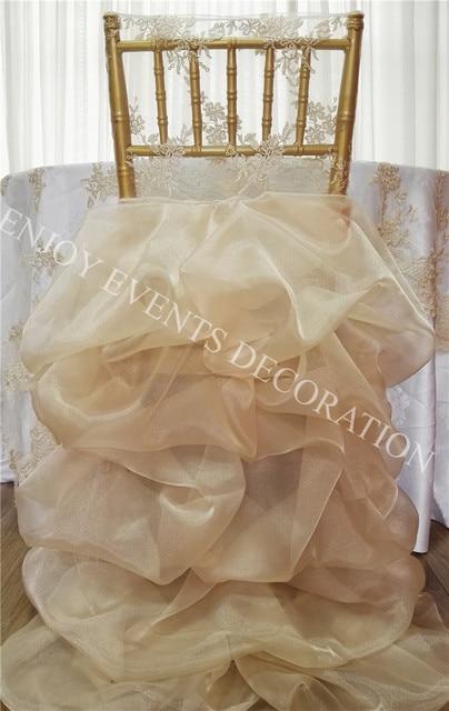Chair Back Covers Wedding Www.chair Cover Express.com 12pcs Yhc 191 Fancy Elegant Embroidery Ruffled Bridal Chiavari