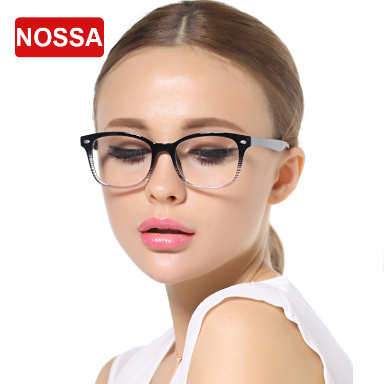 nossa trendy women men prescription eyeglasses frames student simple style myopia glasses frame clear lens
