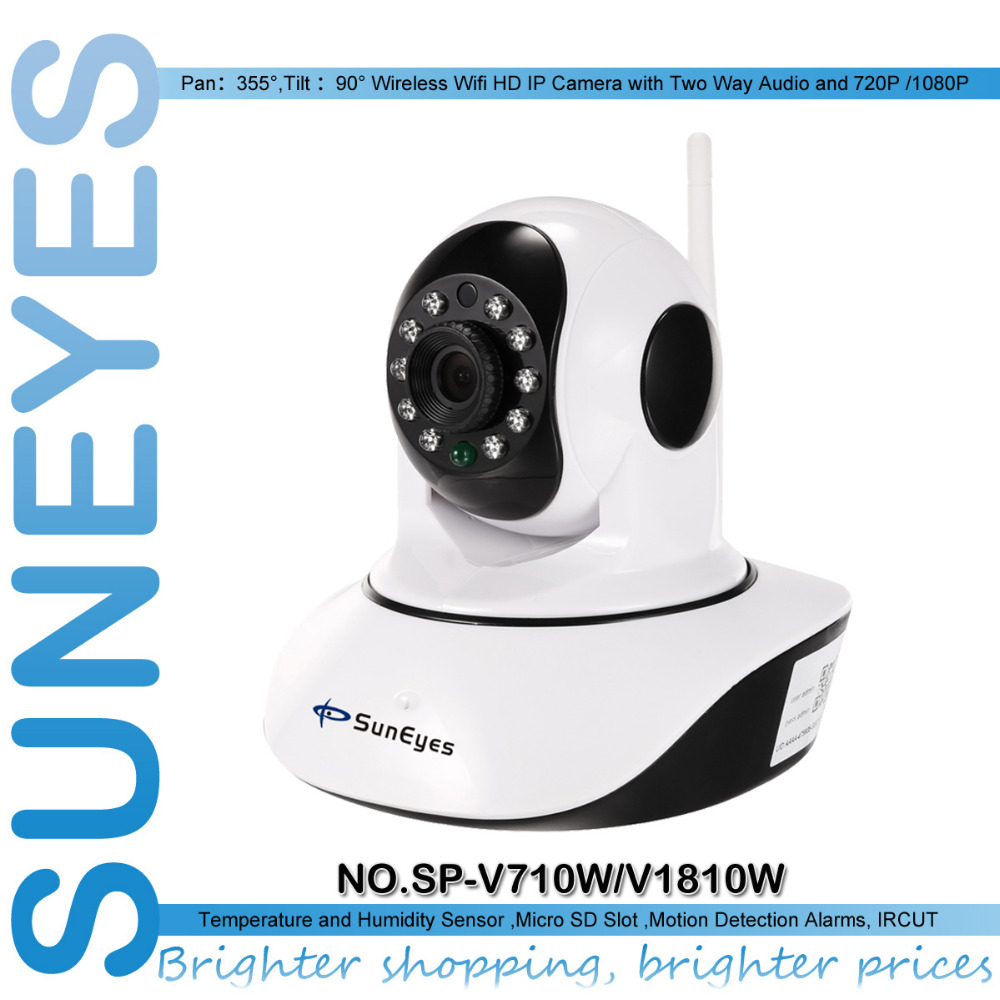 SunEyes SP-V710W/V1810W P2P Pan/Tilt Wireless Wifi HD IP Camera with 720P /1080P Support TF Memory Night Vision Two way audio 2 w p w v p10000 10000 waka ddc12