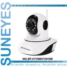Suneyes sp-v710w/v1810w p2p pan/tilt беспроводной wi-fi hd ip-камера с 720 P/1080 P поддержка памяти tf ночного видения двухстороннее аудио