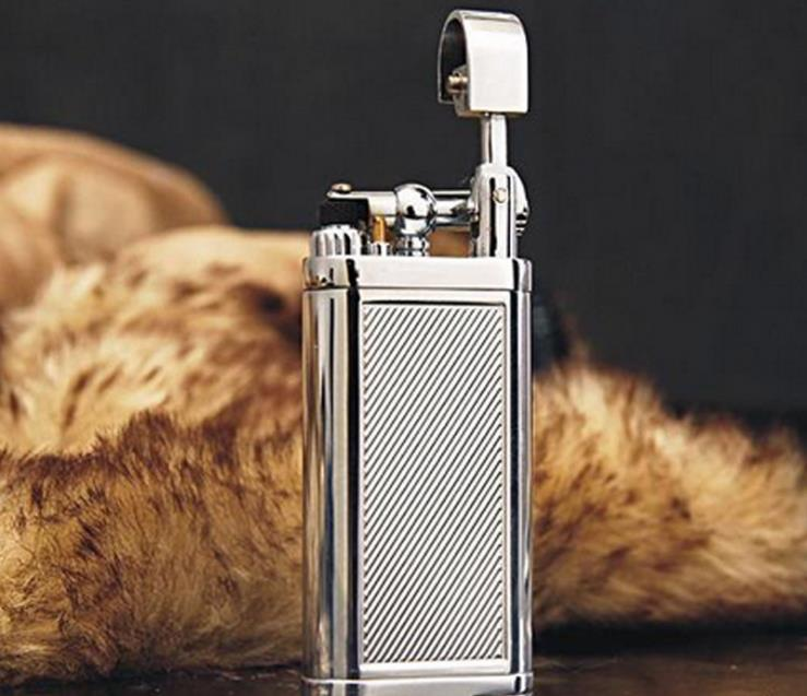 Windproof Metal Cigarette Cigar Pipe Flame Gas Lighter Creative Inflatable Lighter For Outdoor High Quality Business
