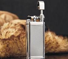 Ветрозащитный металла сигареты сигары трубы пламени Газовая зажигалка Творческий надувные Зажигалка для Открытый Высокое качество бизнес-подарок