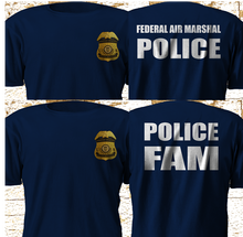 2019 Funny New Federal Air Marshal Us Police Military Special Force Navy T Shirts-3Xl Double Side Unisex Tee