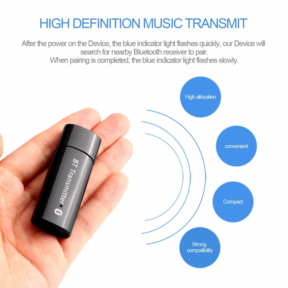 YU-104 High Definition Music Transmit For Computer TV USB Bluetooth 4.0 Transmitter