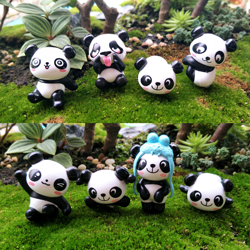 Pandas Figma Modeling Anime Figure Creative Cartoon Cute Crafts-Material Decorative-Ornaments