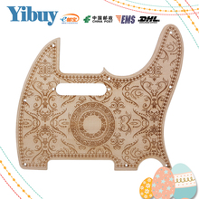 Yibuy 20x19cm Wood Special Pattern Pickguard Scratchplate for Electric Guitar